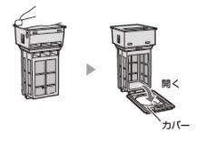 シャープドラム式洗濯乾燥機フィルターの掃除2